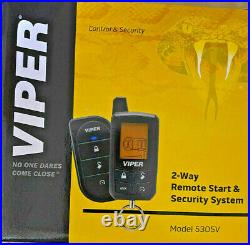 Viper 5305V Car Alarm Security Remote Starter System 2-Way LCD Remote NEW