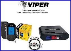 Viper 5706V 2 Way LCD Remote Starter Car Alarm with DBALL2 Bypass Interface and