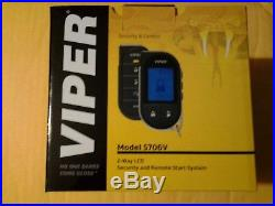 Viper Car 2way LCD Security And Remote Starter System 5706 One Mile New In Box